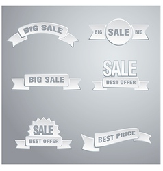 white sale tags vector image vector image