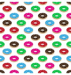 color sweet food donuts seamless pattern eps10 vector image vector image