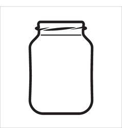 Empty Jar vector image