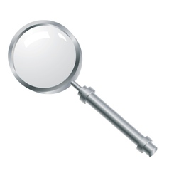 Magnifying glass with a metallic pen vector image vector image
