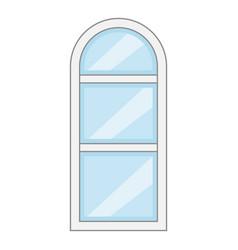narrow window frame icon cartoon style vector image vector image
