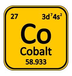 Periodic table element cobalt icon vector image