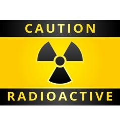 radioactive hazard sign vector image vector image