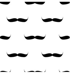 seamless background mustache on white background vector image