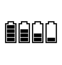 Set of battery charge level indicators vector