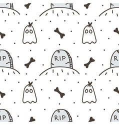 Spooky halloween seamless pattern background vector image