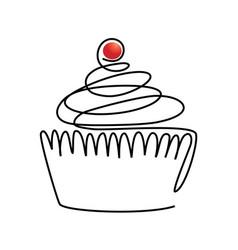 sweet line cake vector image vector image