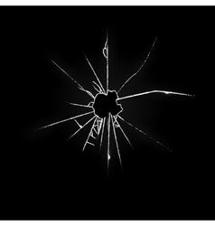 Broken Glass on Black Background vector image