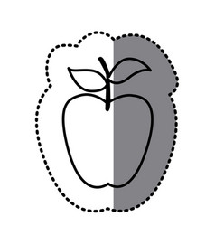 figure long apple fruit icon vector image