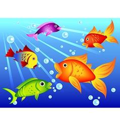 Fun colorful fish vector image vector image
