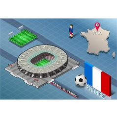Isometric Soccer Stadium - Stadie de France Paris vector image