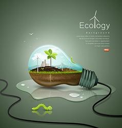 Light bulb ecology concept design background vector image vector image