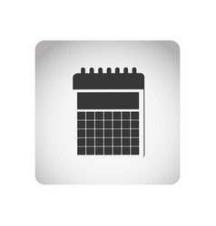 monochrome square frame with silhouette calendar vector image