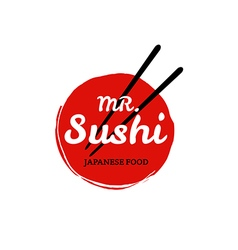 Sushi logo on white background vector image vector image