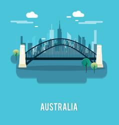 sydney harbour bridge bautiful place australia vector image