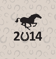 2014 Year of the horse vector image