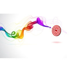 Abstract colorful background with Arrow Hitting A vector image