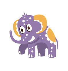 adorable cartoon baby elephant character posing vector image