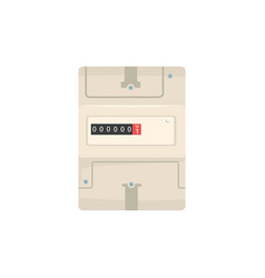 Analog electric meter household measuring device vector