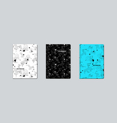 Artistic notebook covers design vector