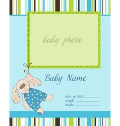 Baboy arrival card with frame vector
