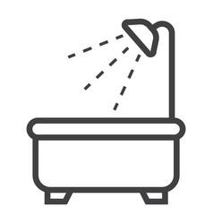 bath line icon furniture and interior vector image