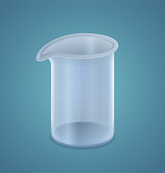 Beaker vector image