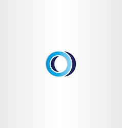 blue logotype sign letter o vector image