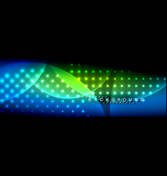 blurred neon glowing circles with flowing vector image