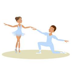 Boy and girl ballet dancers vector