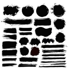 Brush strokes grunge collection vector