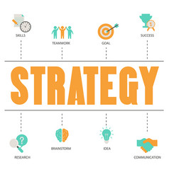 business and marketing strategy concept business vector image