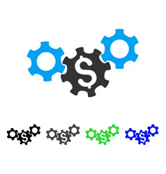 Business gears flat icon vector