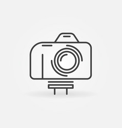 camera on monopod outline icon vlog concept vector image