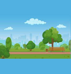 cartoon a modern empty city vector image