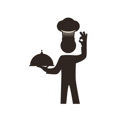 Chef catering food hat vector