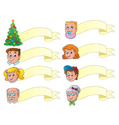 christmas banners theme set 1 vector image