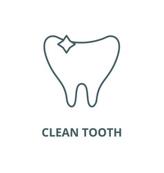 clean tooth line icon clean tooth outline vector image