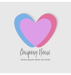 Conceptual Double heart icon vector