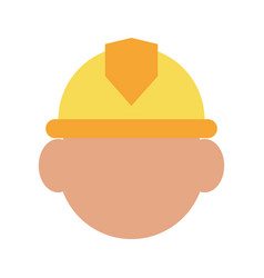 Construction worker builder contractor icon image vector