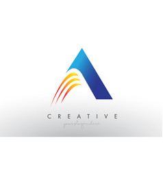 Creative corporate a letter logo icon design with vector