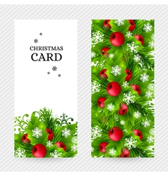 Cristmas holly fir banners 19 vector