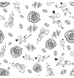 delicate decorative swirly floral pattern with vector image