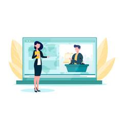 Diplomatic news online service or platform vector