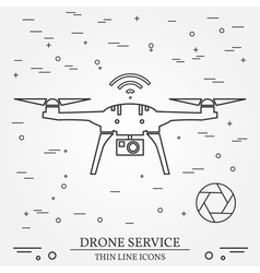 Drone service video and photography services vector