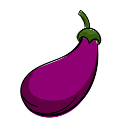 Eggplant icon cartoon style vector