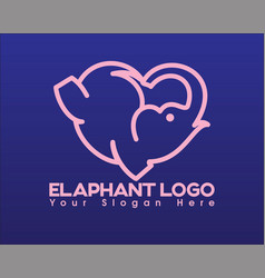 elephan love vector image