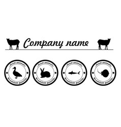 Farm animals premium quality silhouettes vector
