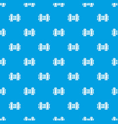fence architecture pattern seamless blue vector image