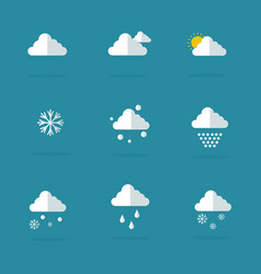 Flat of weather set vector